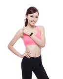Sport woman wearing smart watch Stock Photography