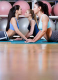Sport women doing stretching fitness exercise Royalty Free Stock Photography