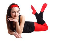 Sport women lying Royalty Free Stock Photo