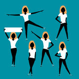 Sport women. silhouettes set. Stock Images