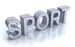 Sport word Stock Images