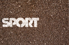 Sport Word on Asphalt coscept photo Royalty Free Stock Photography