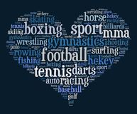 Sport word cloud concept Stock Photo