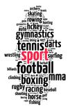 Sport word cloud concept Stock Images