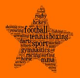 Sport word cloud concept Royalty Free Stock Photography