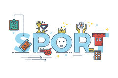 Sport word illustration Stock Photo