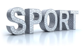Sport word isolated on white Royalty Free Stock Images