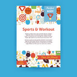 Sport and Workout Vector Invitation Template Flyer Royalty Free Stock Photos