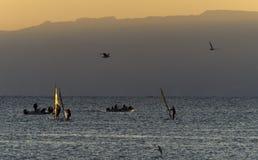 Sport yachts near Eilat, Israel Stock Photos