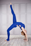 Sport yoga suit woman sexy healthy dance Royalty Free Stock Images