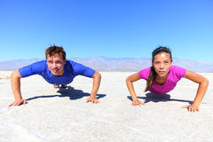 Sport - young fitness couple stock images