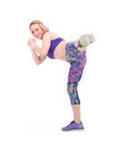 Sport young woman doing fitness exercise Stock Photography