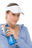 Sport - young woman fitness outfit water bottle Stock Images