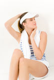 Sport - young woman in summer fitness outfit Stock Images