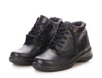 Sport zimy czerni buty. Zdjęcie Royalty Free