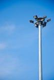 Sporta światła poczta na pięknym nieba tle zdjęcie royalty free