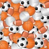 Sporta bezszwowy wzór Zdjęcia Royalty Free