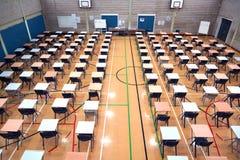 Sporta Hall ustawianie dla egzaminów Zdjęcie Royalty Free