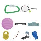 Sporta i sprawności fizycznej ustalone ikony w kreskówce projektują Duża kolekcja sporta i sprawności fizycznej wektorowy symbol  Fotografia Royalty Free