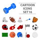 Sporta i sprawności fizycznej ustalone ikony w kreskówce projektują Duży inkasowy sporta i sprawności fizycznej wektorowy symbol  Obraz Stock