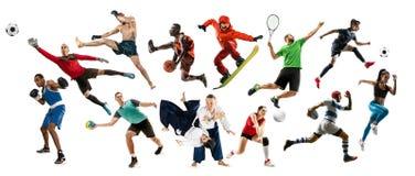 Sporta kola? o atletach lub graczach Tenis, bieg, badminton, siatk?wka zdjęcie stock