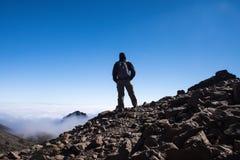 Sporta mężczyzna na górze góry Tenerife kanarek Obraz Stock