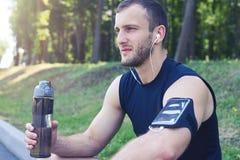 Sporta męski patrzeć bezpośrednio Fotografia Stock