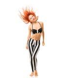 Sporta model z latającym włosy Fotografia Royalty Free