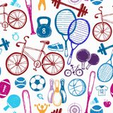 Sporta nakreślenia wzór ręka patroszona Fotografia Royalty Free
