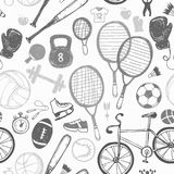 Sporta nakreślenia wzór ręka patroszona Obrazy Stock