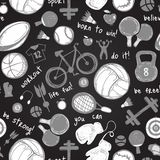 Sporta nakreślenia wzór ręka patroszona royalty ilustracja
