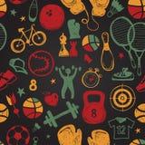Sporta nakreślenia wzór ręka patroszona ilustracji