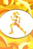 Sporta plakat na jaskrawym tle ilustracji