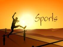 Sporta pojęcie z bieg mężczyzna Fotografia Royalty Free