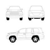 Sporta pojazd użytkowy Ilustracji