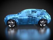 Sporta pojazd użytkowy w sideview Obraz Royalty Free