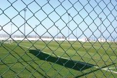 Sporta pola bezpieczeństwa Łańcuszkowego połączenia ogrodzenie Obrazy Royalty Free