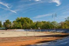 Sporta pole na słonecznym dniu Zdjęcie Stock