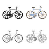 Sporta rower ściga się na śladzie Prędkość rower z zbrojonymi kołami Różnego bicyklu pojedyncza ikona w kreskówka stylu wektorze ilustracja wektor