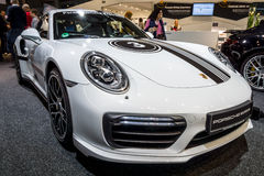 Sporta samochód Porsche 911 Turbo S, 2016 Zdjęcie Royalty Free