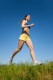 Sporta sprawności fizycznej kobiety bieg zdjęcie stock