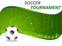Sporta szablon z piłki nożnej piłką royalty ilustracja