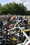 Sporta triathlon przemiana Fotografia Royalty Free