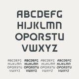 Sporta uppercase abecadło Futurystyczna technologii chrzcielnica Nowożytny monograma szablon Minimalistic projekta wektorowy type ilustracja wektor