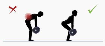 Sporta ćwiczenie Fizyczny szkolenie Deadlift Fotografia Royalty Free
