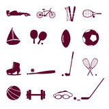 Sporta wyposażenia ikona ustalony eps10 Obrazy Stock