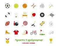 Sporta wyposażenia koloru ikon wektoru set ilustracja wektor