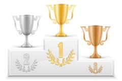 Sporta zwycięzcy podium piedestału zapasu wektoru ilustracja Zdjęcie Royalty Free