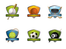 Sportabzeichen und -ikonen Stockbild