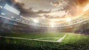 Sportachtergronden voetbal stadium vector illustratie